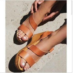 FREE PEOPLE Chestnut Clog Sandals Sz 8.5 US